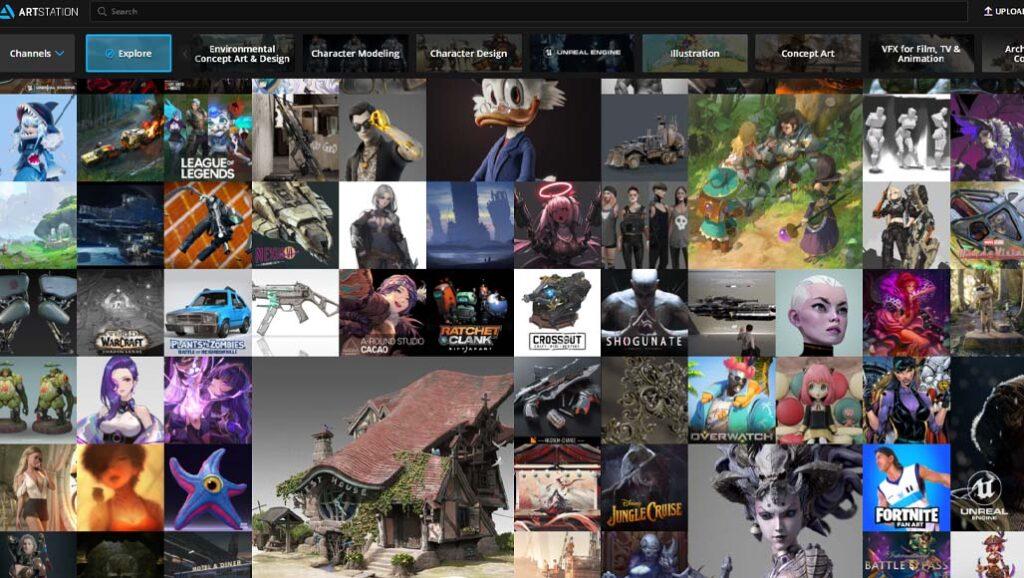 Best-Art-Websites-artstation