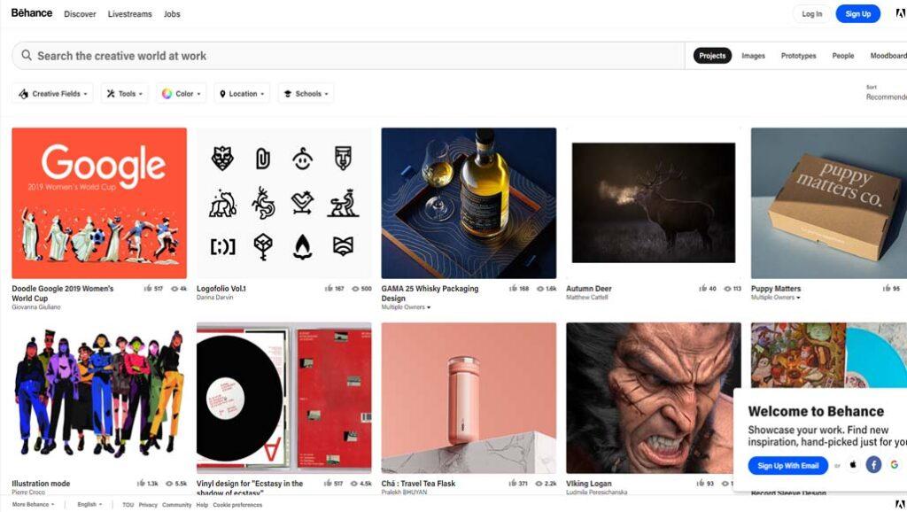 Best-Art-Websites-behance