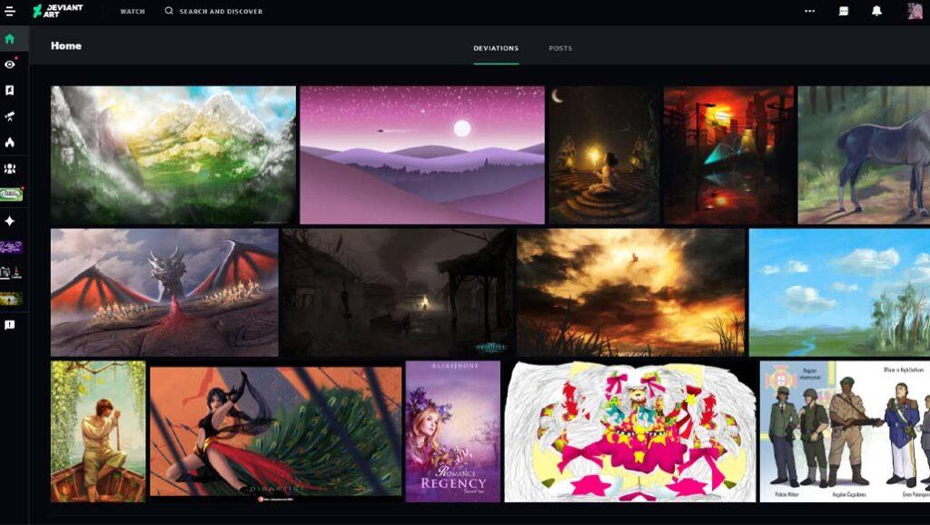 Best-Art-Websites-Deviantart